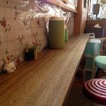 千崎製麺 - 妙に落ち着くカウンター