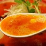まんかい - ③トマとん スープ