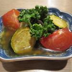 吉 - 「夏野菜の出汁醤油マリネ」