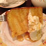 ティーハウス 茶摩 - シフォンケーキ