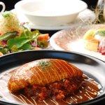 ビストロ ホームバウンド - 料理写真:オムレツライスコース ¥1,890-