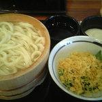 丸亀製麺 - まる得 釜揚げうどん とろろ付き