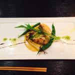 グリーンスポット - お任せコース。魚料理はカサゴ。