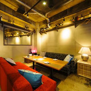 女子会やコンパにピッタリなソファーの半個室