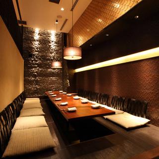 接待・会食にも最適な完全個室あり