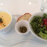 NOSSA gallerybar&dining - ランチのサラダとスープ
