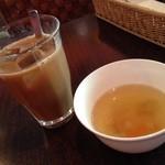 アリーバ - ランチのコーヒーとスープはセルフサービスで飲み放題