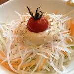びっくりドンキー - びっくりドンキー 伏見店の和セット429円のサラダ(14.03)