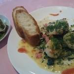 レザン ドォール - ランチの帆立貝と鮮魚の盛合せ ¥1570(税込)