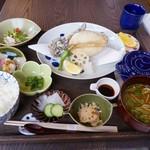 福 - オコゼ唐揚げ定食1