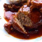 26383093 - 豊後牛ハンバーグから肉汁はこぼれない