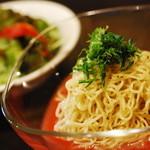 カフェ フリーダ - 20140417 冷やしトマト麵 700円 旨い☆☆☆