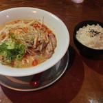 26386745 - 2014.4.17 冷やし担々麺850円と餃子セット200円