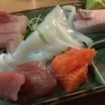 じゆうな丘 - お刺身3点盛り¥500 安い!