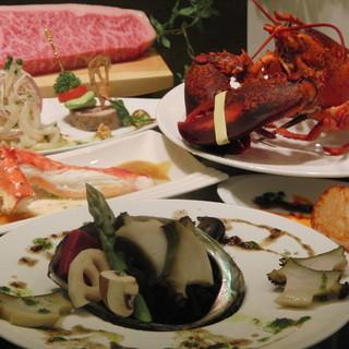 神戸牛だけでなく新鮮な海鮮素材も自慢です。