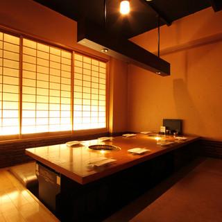 プライベート感覚で利用できるのが嬉しい個室完備