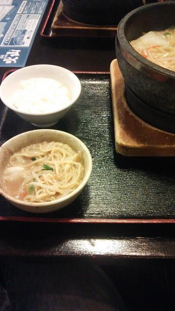 石焼らーめん火山 新潟弁天橋通店 - 小鉢に入れて食します