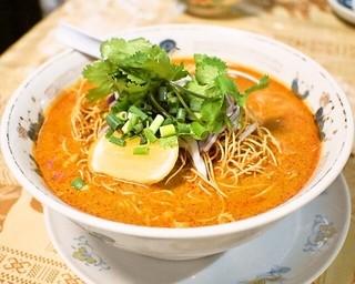 いなかむら - 2014.4 カオソーイ(2種類の麺を使用したチェンマイのカレー麺)