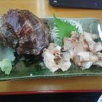 ぴんぴんや ゆたか丸 - にし貝の刺身