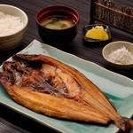 ◆縞ほっけの干物定食…1,400円