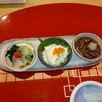 寿司 櫓 - ナマコ+お豆腐+ホタルイカ