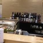 寿司 櫓 - カウンターから