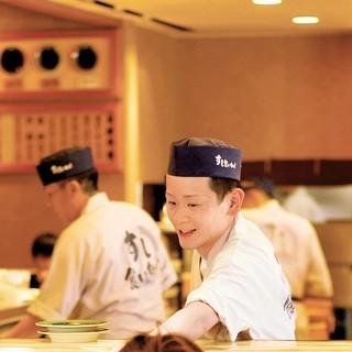 職人が握る本物のお寿司をご提供!