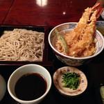 天祥庵 - 大海老天丼とせいろもりセット