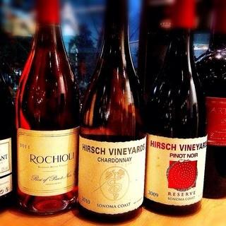 コスパの良いワインが充実!常時250種類以上!