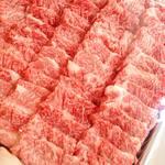 肉の郷 ちべ - カイノミやフランクなどカルビの中でも細かく部位分けしています。
