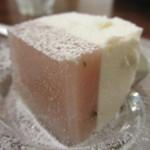 山王CAFE - 桜餡のチーズケーキアップ