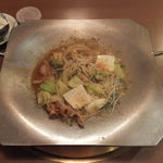 朝日家 - ホルモン鍋(ホルモン鍋セット)