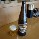 めおと食堂 - ビール大瓶660円