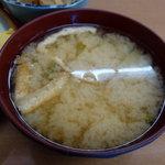 めおと食堂 - 定食の味噌汁