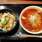 どんぶりブッチャー - ぶた塩丼&温麺セット(2014年4月)