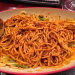 中国家庭料理 楊 - 汁なし坦々麺、混ぜたところ