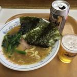 26447868 - ラーメン並(650)缶ビール(400)