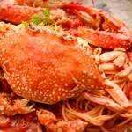 エンジェルフェイク - 渡り蟹のトマトパスタ