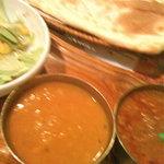 南インド料理胡椒海岸マラバールエクスプレス - カレー2種のランチ