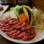 遠野食肉センター レストラン - ジンギスカン定食2人前
