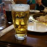 遠野食肉センター レストラン - 生ビールは、アサヒ・キリンどちらでも選べます・・(*´∀`)