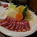 遠野食肉センター レストラン - ジンギスカン単品1人前・・旨くて追加シマシタ・・(*´∀`)