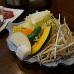 遠野食肉センター レストラン - 野菜焼き