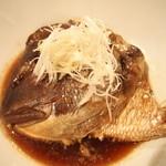 祇園はじめ - 鯛あらの煮付!じっくり煮付された鯛のあらは絶品です!1080円