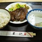 味の牛たん 喜助 - 炭火焼牛たん定食塩 1500円 (2013/5)