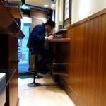 名代 富士そば - 2席だけ椅子があるんですよ~!