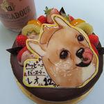 菓子工房 ひのでや - バースデーケーキ(チョコレート5号)似顔絵付