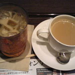 26454901 - 黒糖ミルク珈琲のホット&アイスです。
