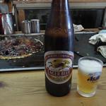 お好み焼き やよい - ビール550円