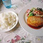 イチロウ - モツァレラチーズとベーコン入りチキンカツレツ(ご飯大盛り)